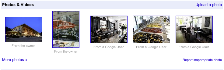 Google Places subida de fotos